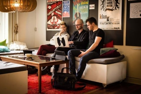 The coworking environment with fixed and flexible seating is professional, charming, and efficient