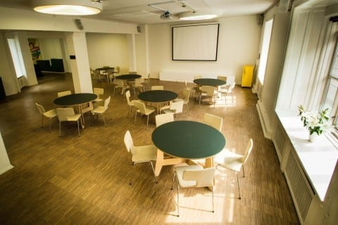 Rent the conference room with projector, sound system and refreshments for 15 to 80 participants