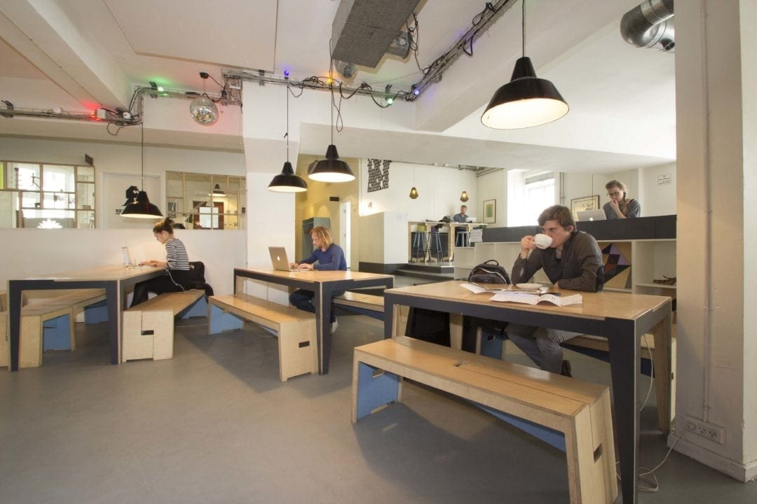 Republikken Café is a popular space for both social and professional meetings and for freelance workers